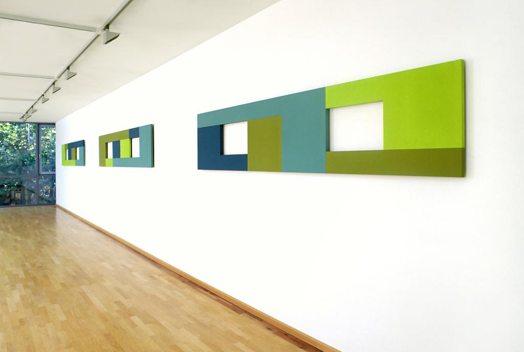 Winkel gestreckt  - Ausstellungsansicht Kunstmuseum Erlangen