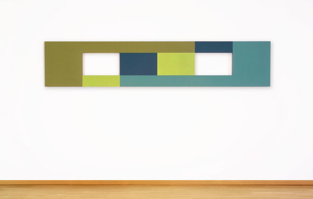 Winkel gestreckt 03 - Acryl auf MDF - 60 x 300 x 3 cm