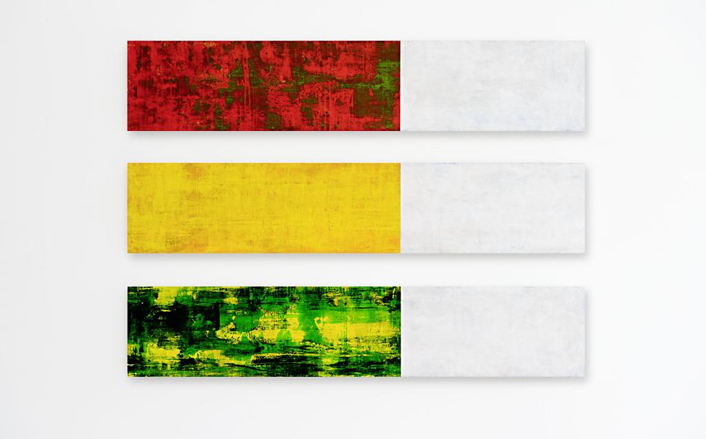 Wandstück 031  I  Acryl und Schellack auf MDF  I  120 x 85 x 4 cm