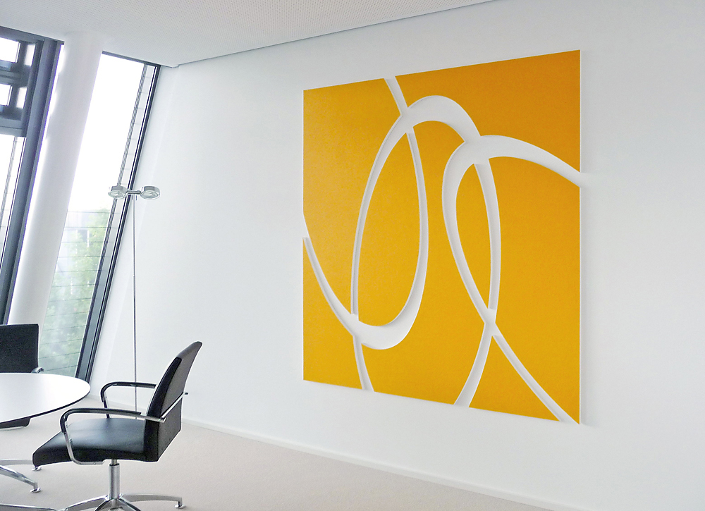 connected var V   I   Acryl und Schellack auf MDF   I    195 x 200 x 2,6 cm
