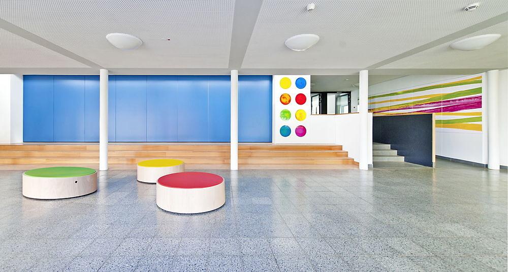 colour and strokes - Kunst am Bau - Adalbert Stifter Grundschule, Erlangen