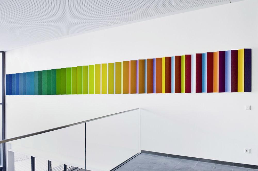 Bewegung/Veränderung  -  Kunst am Bau - Landesfinanzschule Bayern, Ansbach