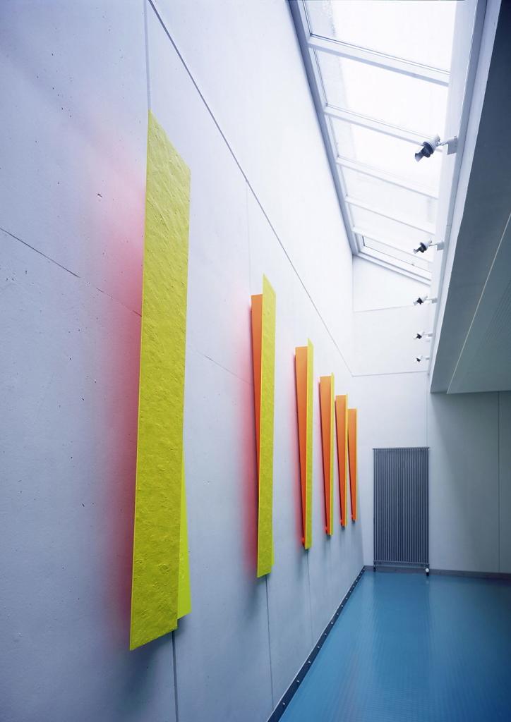 Einfallwinkel/Ausfallwinkel - Kunst am Bau - Bereitschaftspolizei Würzburg