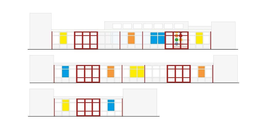 Glasfarben - Kunst am Bau - Adalbert Stifter Grundschule, Erlangen